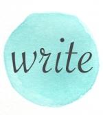 blue circle write
