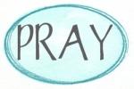 blue oval aqua pray