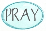 blue oval aqua pray