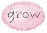 pink oval dot grow