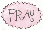 pink oval zigzag pray