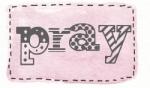 pink rect stitch pray